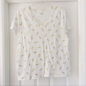 Loft Outlet Pineapple T-shirt XL